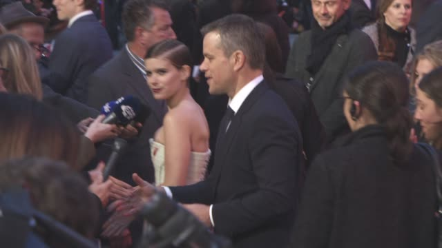 Matt Damon at 'The Martian' European Film Premiere at Odeon Leicester Square on September 24 2015 in London England