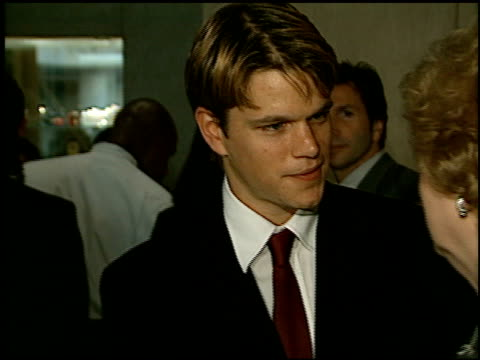 Matt Damon at the RPI Vision Awards at the Beverly Hilton in Beverly Hills California on June 20 1998