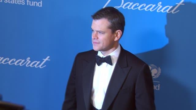 Matt Damon at the UNICEF Ball Honoring Jerry Weintraub at Beverly Hills CA