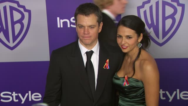 Matt Damon at the Warner Bros And InStyle Golden Globe AfterParty at Beverly Hills CA