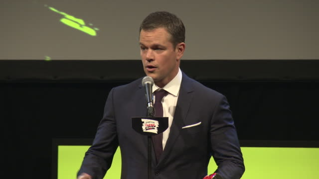 INTERVIEW Matt Damon Best Actor at Jameson Empire Film Awards at Grosvenor House on March 20 2016 in London England