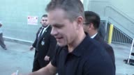 Matt Damon greeting fans at Jimmy Kimmel Live in Hollywood in Celebrity Sightings in Los Angeles