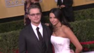 Matt Damon Luciana Damon at 20th Annual Screen Actors Guild Awards Arrivals at The Shrine Auditorium on in Los Angeles California
