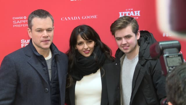 Matt Damon Luciana Damon at 'Manchester By The Sea' Screening 2016 Sundance Film Festival at Eccles Center Theatre on January 23 2016 in Park City...