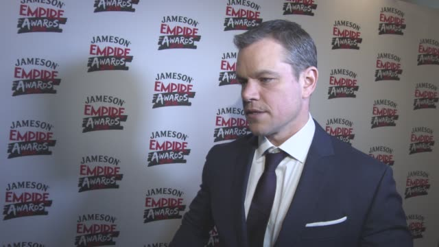 INTERVIEW Matt Damon on winning the award thankful to the fans changing industry finding the right rolls coming to the end of making 'Jason Bourne'...