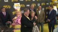 Matt Groening and Yeardley Smith at The Simpsons 500th Episode Celebration On The Yellow Carpet in Hollywood CA on 2/13/12