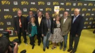 Matt Groening Yeardley Smith Nancy Cartwright and James L Brooks at The Simpsons 500th Episode Celebration On The Yellow Carpet in Hollywood CA on...