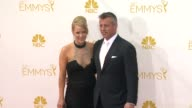 Matt LeBlanc and Andrea Anders 66th Primetime Emmy Awards Arrivals at Nokia Theatre LA Live on August 25 2014 in Los Angeles California