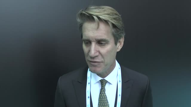 Matthew Bryza a senior member at Atlantic Council and former US ambassador to Baku speaks at an interview on the sidelines of the international TRT...