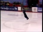 Matthew Davies attempts jump but misses landing and falls over British Figure Skating Championships Belfast Nov 99