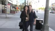 Matthew Davis and Azita Ghanizada at Staples Center for the Clippers playoff game in Los Angeles at Celebrity Sightings in Los Angeles on April 15...