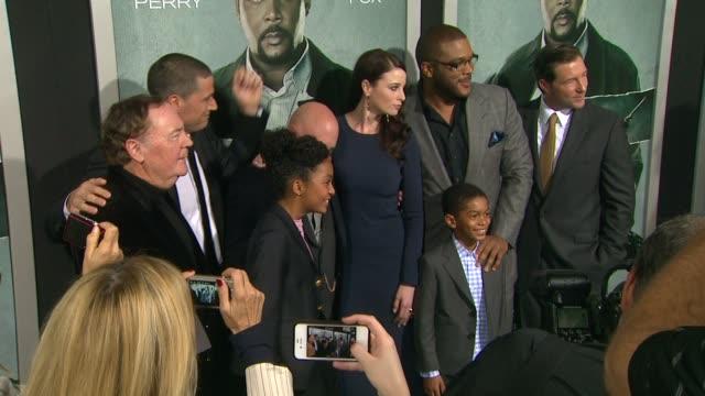 Matthew Fox Tyler Perry Rachel Nichols at Alex Cross Los Angeles Premiere on in Hollywood CA