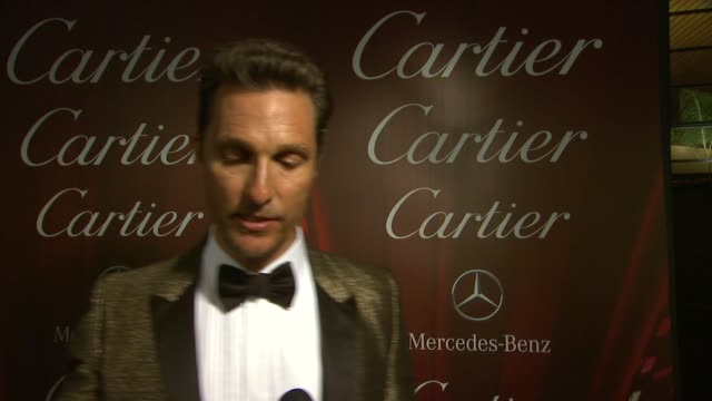 INTERVIEW Matthew McConaughey on making films at the 25th Annual Palm Springs International Film Festival Awards Gala Presented By Cartier in Palm...