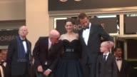 Matthias Schoenaerts Gilles Jacob Armand Verdure Marion Cotillard and Jacques Audiard at De Rouille et D'os Premiere 65th Cannes Film Festival on May...