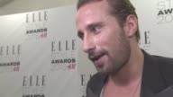 INTERVIEW Matthias Schoenaerts on being at the awards his next projects with Thomas Vinterberg and Adele Exarchopoulos at ELLE Style Awards Ceremony...