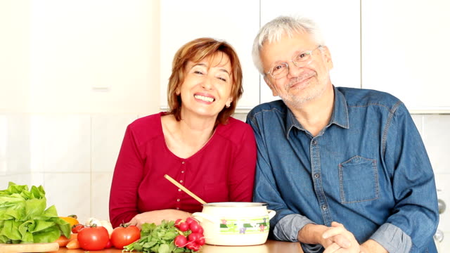 Mature Couple cooking