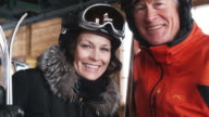 mature couple on a ski holiday