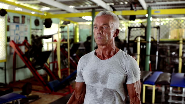 Mature man in Gym