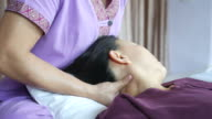 mature woman having relaxing  with Thai massage