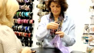Mature  woman shopping