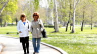 Mature woman Walking in the Park