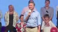 Mauricio Macri aseguro ante sus seguidores estar alegre y agradecido por su victoria en las presidenciales de Argentina y aseguro que el pais esta...