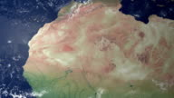 Mauretanien poppt nach Erde zoom (mit alpha-matte)