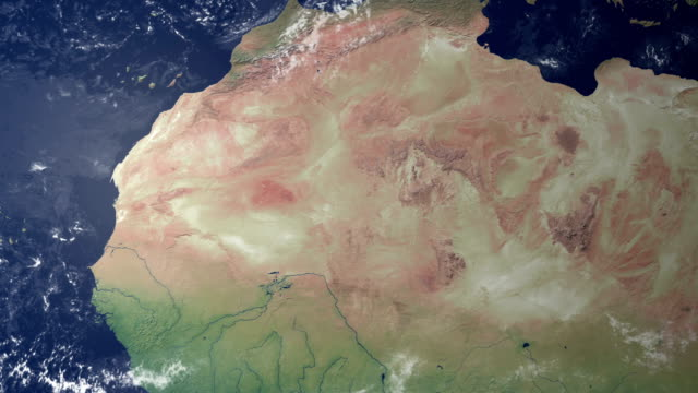 Mauritania visualizzato dopo terra zoom (con di metallina di alfa)
