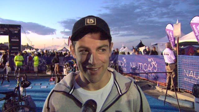 INTERVIEW Max Greenfield on doing the triathlon at Nautica Malibu Triathlon Presented by Equinox on 9/8/13 in Malibu CA