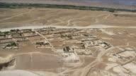 May 1 2009 AERIAL WS Village in desert / Najil Afghanistan