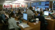 May 1 2009 HA Employees working at computers in Centers for Disease Control Operations Center / Atlanta Georgia United States