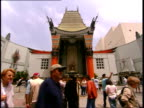 May 18 2006 WS Pedestrians walking outside of Mann's Chinese Theater in Los Angeles / California United States