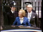 May In 1979 the Tories won the General Election London Downing Street EXT Margaret Thatcher MP waving to supporters outside Number 10 on arrival to...