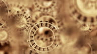 Mayan Aztec Inca Calendar Gears Animation