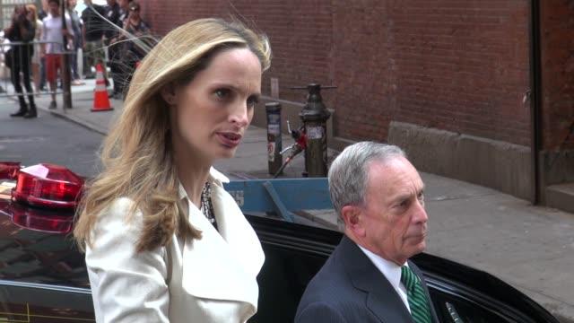 Mayor Bloomberg on the photo shoot set of photographer Annie Leibovitz in New York 07/30/12