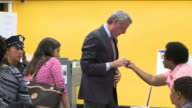 WPIX Mayor de Blasio Casts Votes in Primary at Park Slope Library in Brooklyn