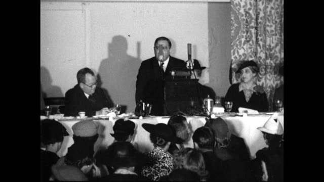 Mayor Fiorello LaGuardia at podium audience FG 'You can't be a good fellow amp a good mayor at the same time I intend to continue being a good mayor'