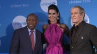 Mayor of Houston Sylvester Turner Angie Harmon and Michael Bolton at 2017 UNICEF Audrey Hepburn Society Ball on May 24 2017 in Houston Texas
