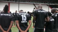 TP Mazembe Lubumbashi football club train ahead of their match against USM Alger of Algeria in the second leg of the 2015 CAF Champions League final