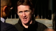 McCoy training and interview AP McCoy interview with reporter in shot SOT