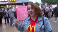 McDonald's UK staff strike for first time Vox pops McDonald's workers