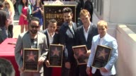 AJ McLean Howie Dorough Kevin Richardson Brian Littrell andNick Carter at Backstreet Boys Celebrate 20 Year Career With Star On The Hollywood Walk Of...