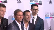 AJ McLean Nick Carter Brian Littrell Howie Dorough Kevin Richardson at The 40th American Music Awards Arrivals on in Los Angeles CA