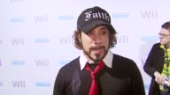 AJ McLean on Nintendo and how he would design a video game at the Nintendo WII Launch Party at Boulevard 3 in Los Angeles California on November 16...