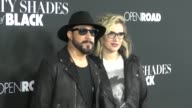 AJ McLean Rochelle Deanna Karidis at the Fifty Shades Of Black Premiere at Regal Cinemas in Los Angeles in Celebrity Sightings in Los Angeles