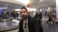 J McLean talks about boy bands today compared to when he was starting arriving at LAX Airport in Los Angeles in Celebrity Sightings in Los Angeles