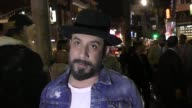 McLean talks about his love for his Backstreet Boys fans outside the Roosevelt Hotel in Hollywood in Celebrity Sightings in Los Angeles