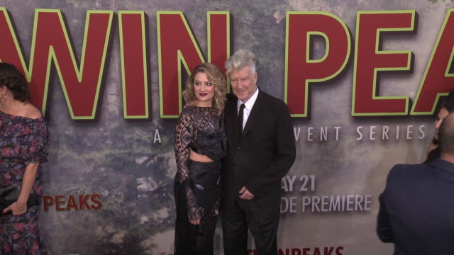 Mädchen Amick and David Lynch at The World Premiere of the new Showtime LimitedEvent Series 'Twin Peaks' at Ace Hotel on May 19 2017 in Los Angeles...