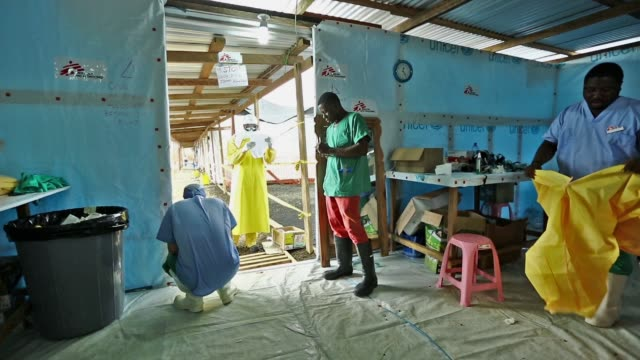 WS Médecins Sans Frontières rapidly expands their Ebola Case Management Facility at ELWA 3 in Monrovia Liberia The center currently has 120 beds They...