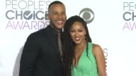Meagan Good and DeVon Franklin at the People's Choice Awards 2016 at Nokia Plaza LA LIVE on January 6 2016 in Los Angeles California